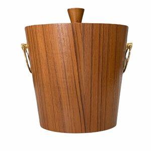 Vintage 1960's Mid Century Modern Teak Ice Bucket